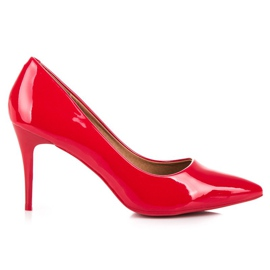 Lacquered red stilettos