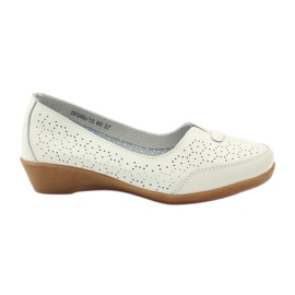 Leather shoes Vinceza moccasins white