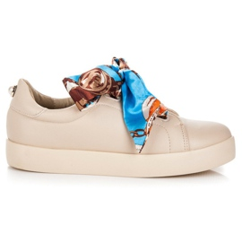 Sneakers Tied With VICES Ribbon brown
