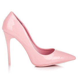 Pale pink high heels vices
