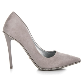 Seastar grey Trendy Gray High Heels