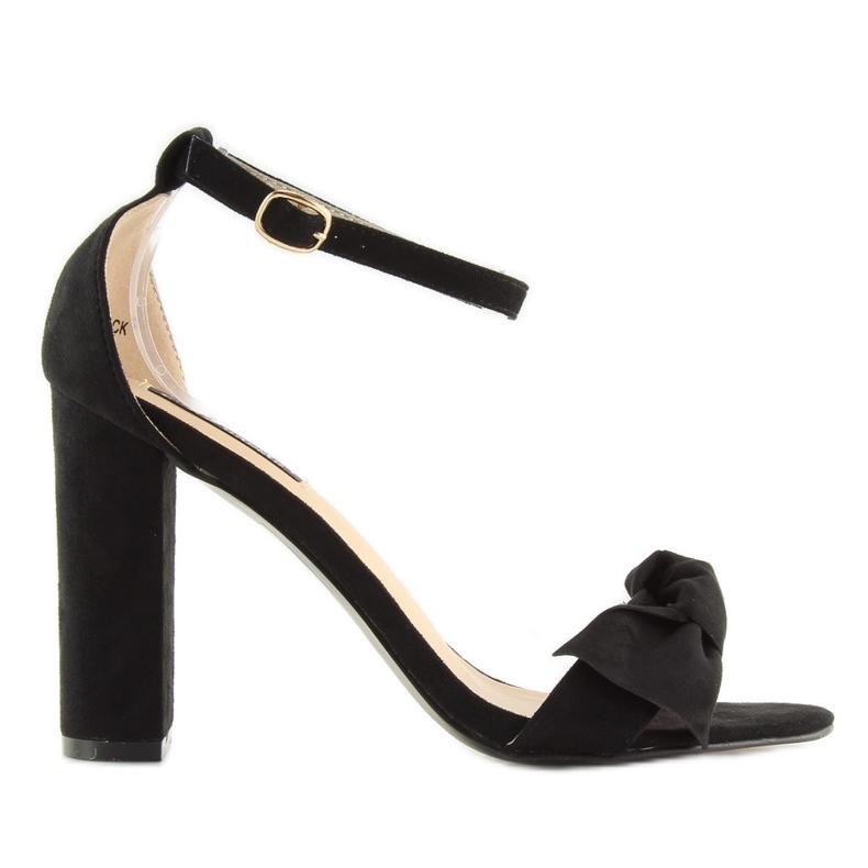 Sandals high heels black 118-11 black