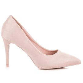 Powder Heels From Suede pink