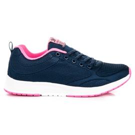Ax Boxing Dark blue textile footwear
