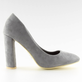 High heels pumps gray B-18 gray grey