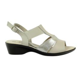 Filippo Comfortable leather sandals on wedge heel
