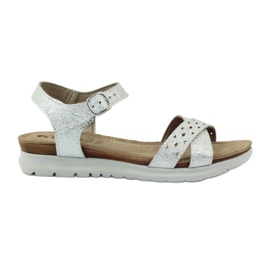 Grey Sandals inlay Inblu 038 silver