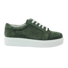 Creepersy leather shoes Filippo 036 green