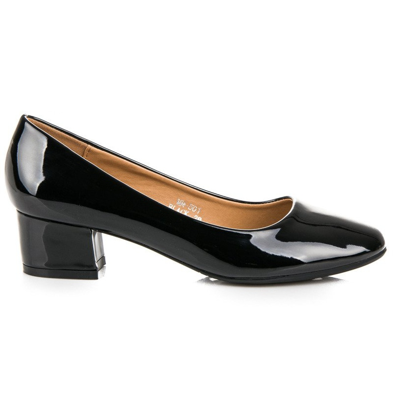 Lovery Lacquered pumps with low heels black