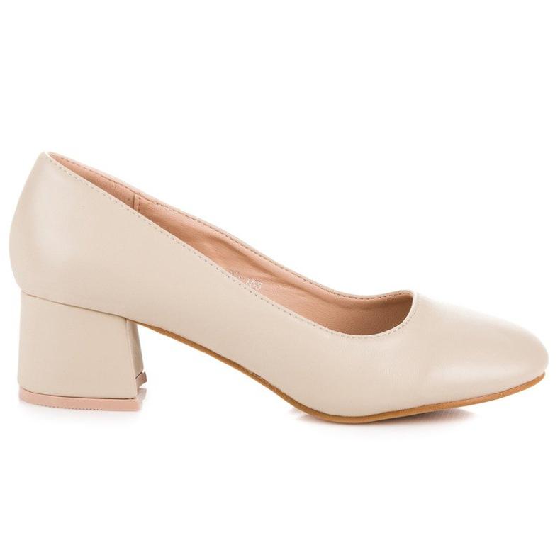 Renda Beige pumps with low heels