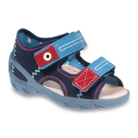 Navy Befado children's shoes pu 065X112