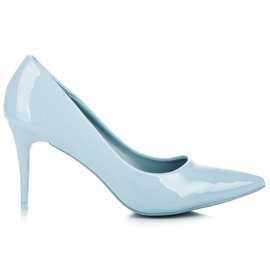 Comer Stylish lacquered heels blue