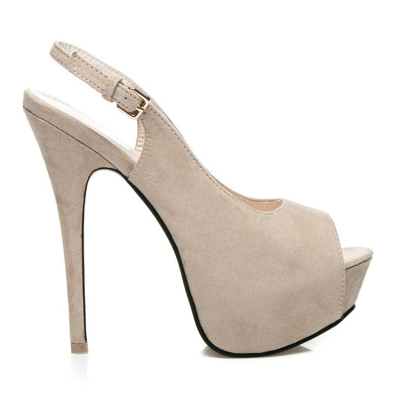 Comer High open toe pumps brown