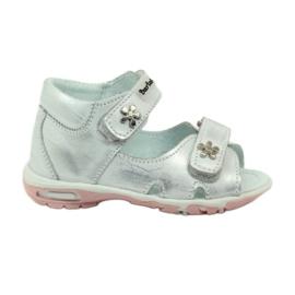 Grey Velcro sandals Bartuś 120 silver
