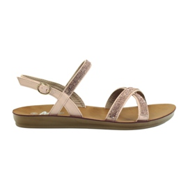 American Club Sandals with cubic zirconia American 170430 pink
