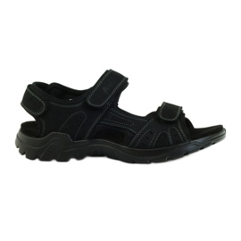 American Club black American leather men's sandals