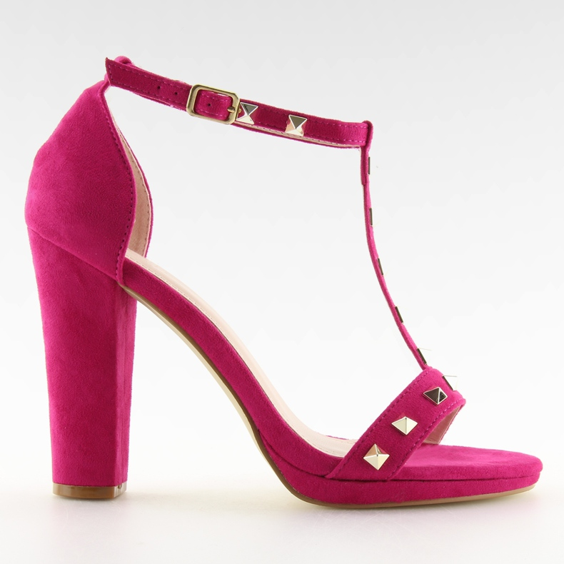 Sandals on the fuchsia A03 fuchsia pink