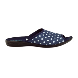 Cotton slippers Adanex navy dots