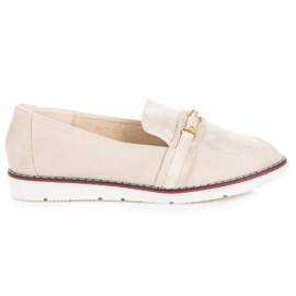 Brown VICES beige moccasins