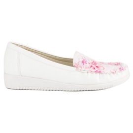 Tullo White moccasins in flowers