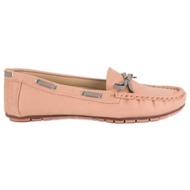 Tullo pink Stylish Suede Moccasins