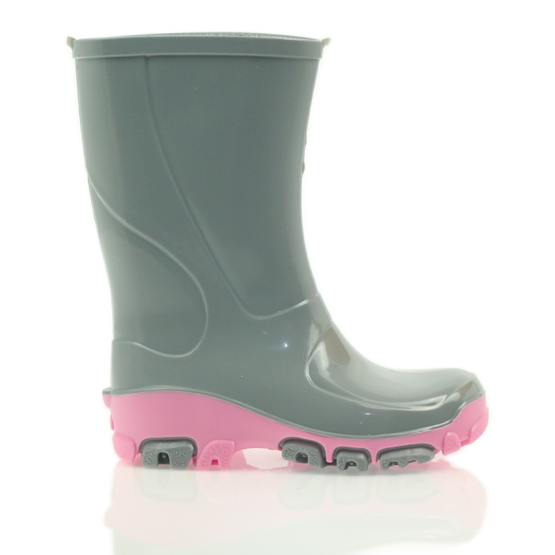 Galoshes with silver ions Ren But gray roses grey pink
