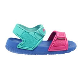 American Club blue children's sandals to the water
