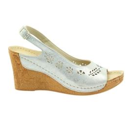 Grey Wedge Sandals Sandals Gregors 709
