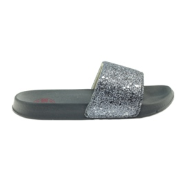 Profiled slippers Big Star glitter grey