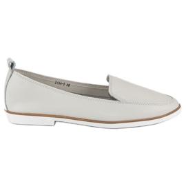 Mazaro Gray Leather Loafers grey
