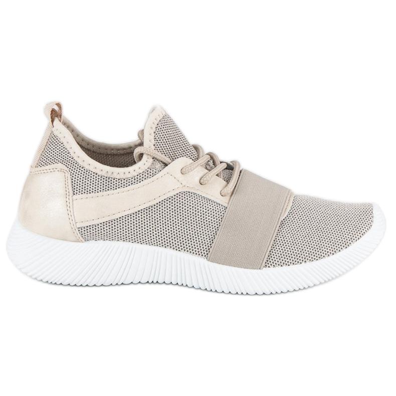 Beige slip-on footwear brown