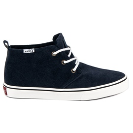 Andy Z blue Suede sneakers above the ankle