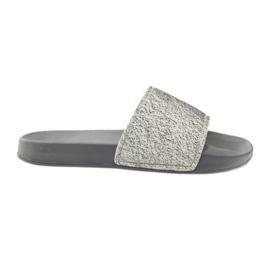 Profiled slippers Big Star glitter grey