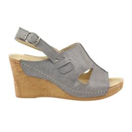 Gray Gregors 533 Sandals grey