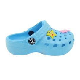 American Club Crocsy flip-flops blue American