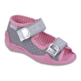 Befado children's shoes 242P082 grey pink