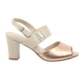 Sandals leather insert Daszyński 107