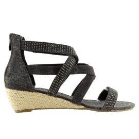 Espadrilles black shoes ME11783 Black