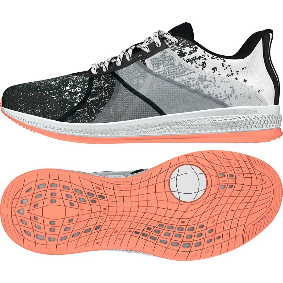 Agente de mudanzas Altitud Mentalmente  Adidas Gymbreaker Bounce W BB3985 white black grey - ButyModne.pl
