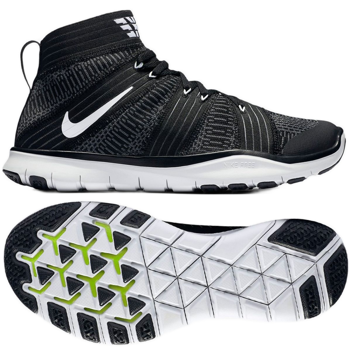 finest selection 8c54a eb216 Black Training shoes Nike Free Train Virtue M 898052-001
