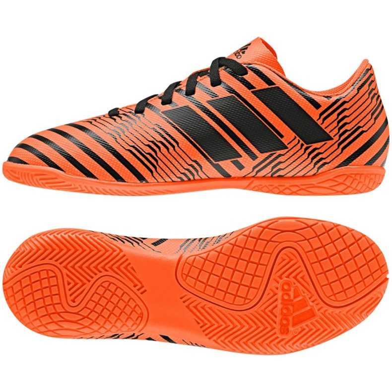 Indoor shoes adidas Nemeziz 17.4 In Jr S82467 orange multicolored