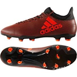Football shoes adidas X 17.3 Fg M S82365 orange multicolored
