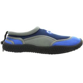 Aqua-Speed Jr. neoprene beach shoes navy-gray