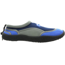 Aqua-Speed Jr. neoprene beach shoes navy-gray
