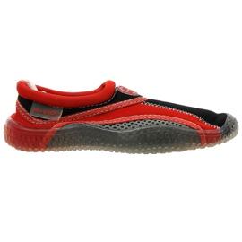 Aqua-Speed Jr. neoprene beach shoes red-gray