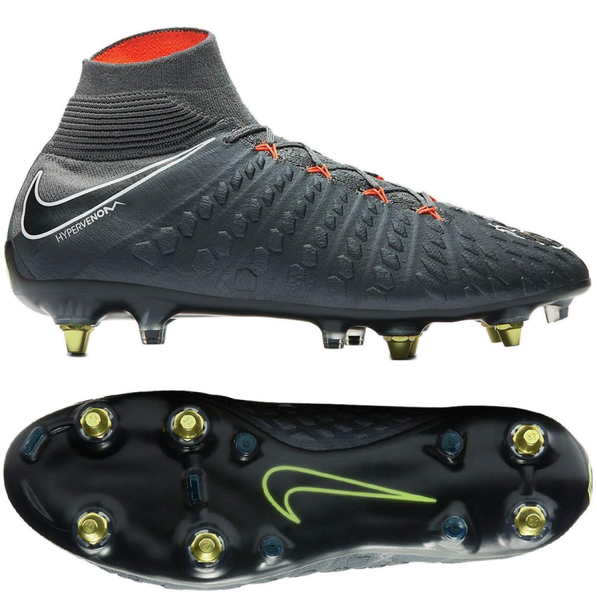 wyprzedaż ze zniżką Data wydania topowe marki Football shoes Nike Hypervenom Phantom 3 Elite Df Fg Ac M AH7269-081 grey  gray / silver