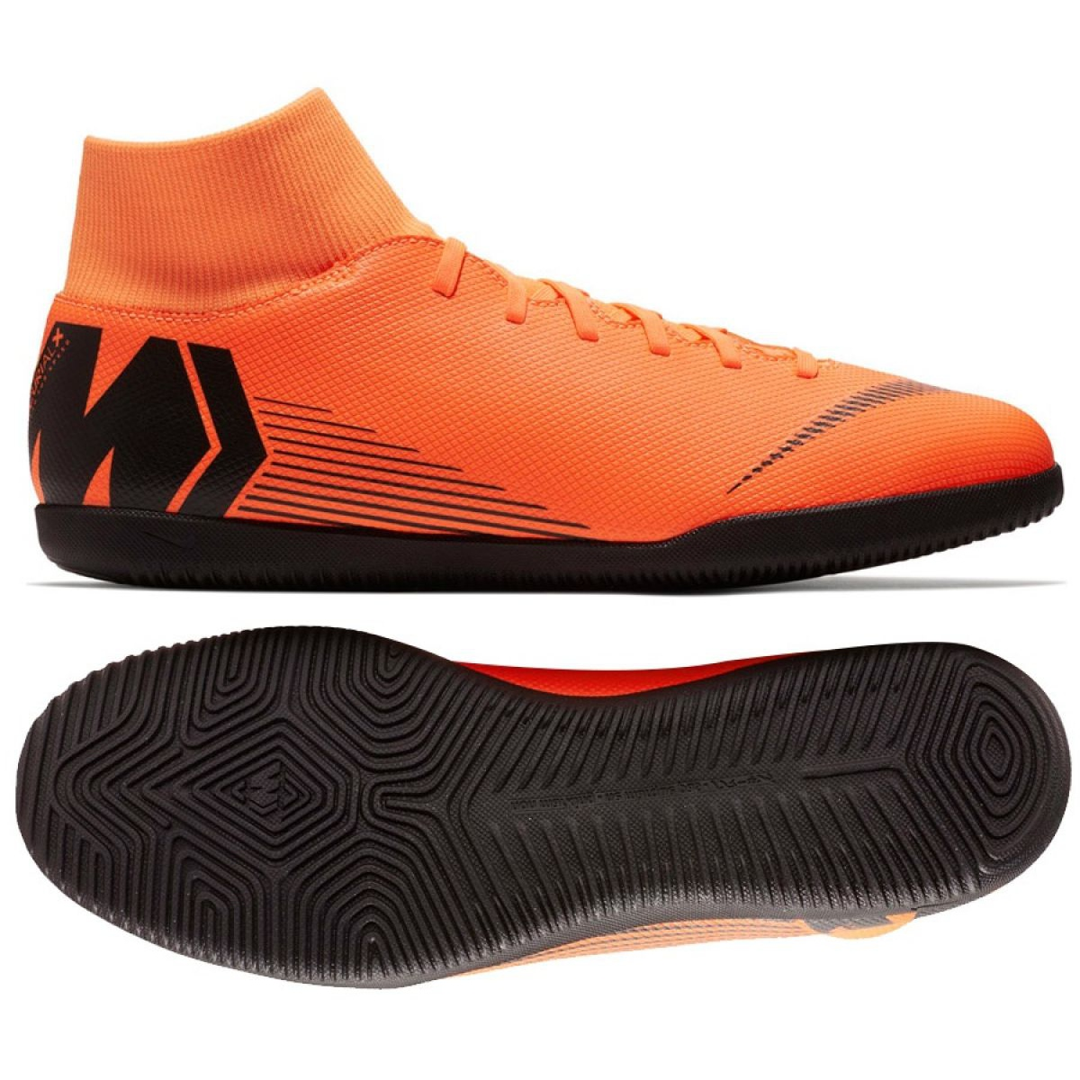 discount authentic catch Football shoes Nike Mercurial Superfly 6 Club Ic M AH7371-810 orange orange