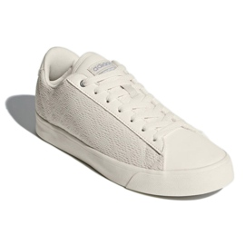 White Adidas Sport Inspired Cloudfoam Daily Qt Clean Shoes In DB1738