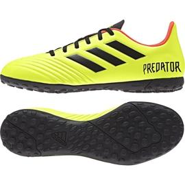 The adidas Predator Tango 18.4 Tf M DB2141 football boots yellow multicolored