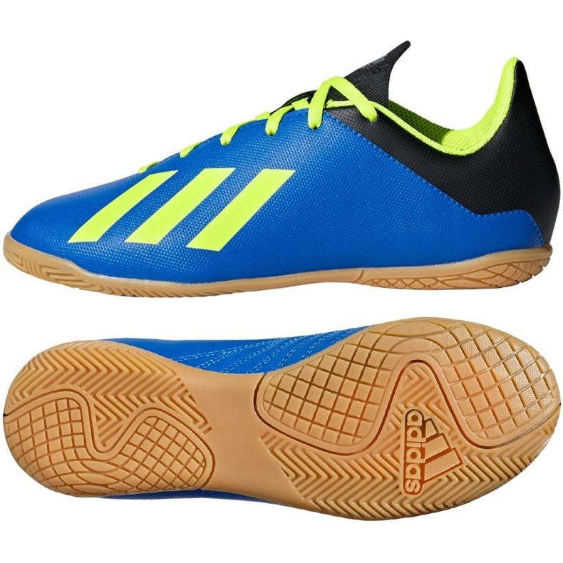 Adidas X Tango 18.4 In Jr DB2431 football shoes navy blue navy